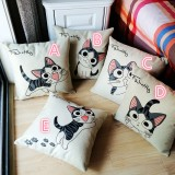 0001Cute cat sofa pillow cover cotton