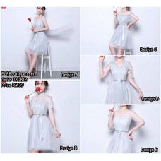180812 ELFBOUTIQUE BRIDESMAID DINNER DRESS EVENING GROWN BEAN, GREY, RED, WHITE Budget custom made