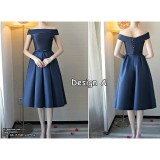 180701 ELFBOUTIQUE Premium Navy Blue Dinner Gown Bridemaid dress FREE SHIPPING