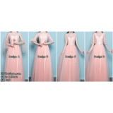 181062 Autumn Bridesmaid Sister BFF Wedding ROM evening gown dress premium custom made (PINK)