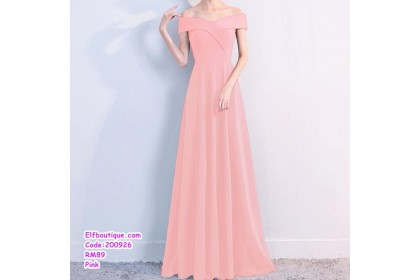 200926 Woman Elegant Sexy Off-Shoulder Slim Fit Dinner Gown Dress White/Pink/Red/Black/Blue/Navy/Wine Red