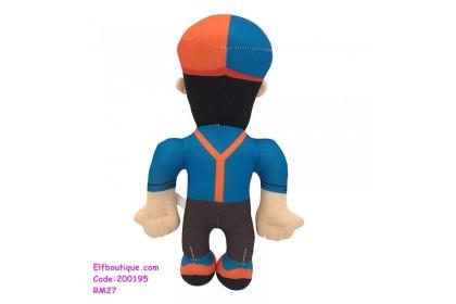 200195 Children America Cartoon Blippi Soft Toy  Dark Blue/Light Blue