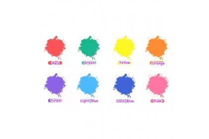 210181 READY STOCK Children Colouring Finger Stamp Art Colour Liquid Refill Bottle 30ml Red/Orange/Yellow/Green/Light Blue/Dark Blue/Purple/Pink